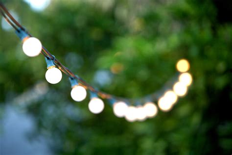 Backyard Bulb Lights by Creating A Garden Bistro In A Tiny Space