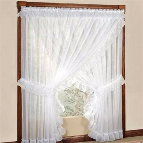 Curtains With Attached Valance Sheer Priscilla Panel Pair With Attached Valance Ellis Curtain Curtainshop