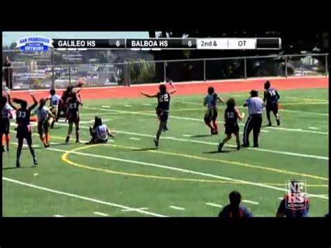 section 6 high school football balboa high school wins the san francisco section girls