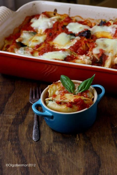 Lidia Kitchen Pasta by Lidia Bastianich S Baked Stuffed Shells Recipe What S