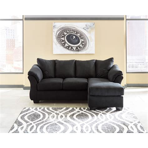 ashley darcy sofa chaise signature design by ashley darcy black 7500818