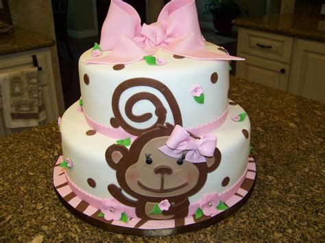 Monkey Themed Baby Shower by Monkey Themed Baby Shower Cake For A Baby