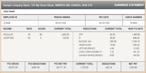 5 paycheck stub template authorizationletters org