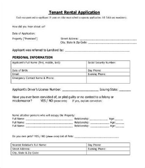 Free Rental Application Templates 10 Free Word Pdf Documents Download Free Premium Templates Tenant Rental Application Template