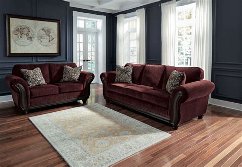 chesterbrook burgundy sofa and loveseat chesterbrook 2pc burgundy sofa loveseat set