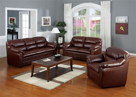 Matching Living Room Furniture Sets Acme Furniture Connell Brown Bonded Leather Match 3 Pc