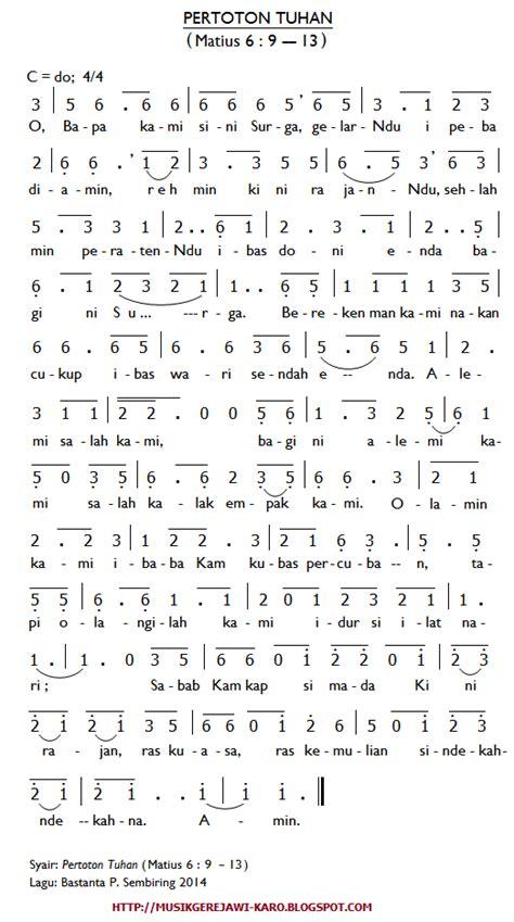 not angka lagu rohani mengejar hadirmu musik gerejawi karo januari 2014