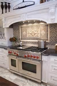 Kitchen Range Backsplash by Beautiful Tiled Backsplash Wolf Dual Fuel Range Shelf On