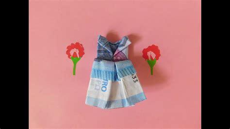 hochzeitskleid aus geld falten aus geld falten anleitung kleid brautkleid