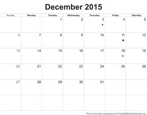 printable free december 2015 calendar 2015 monthly calendars archives printable blank calendar org