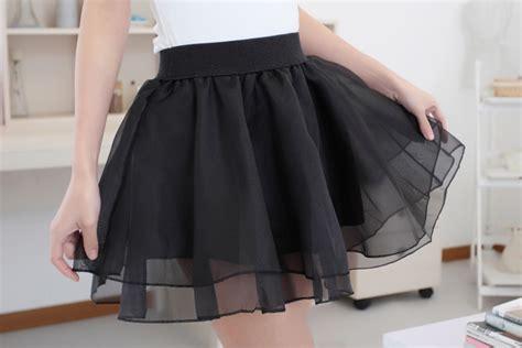 Foot Black Rok Mini new fashion 2015 skirts womens black summer skirt mini skater tulle skirt