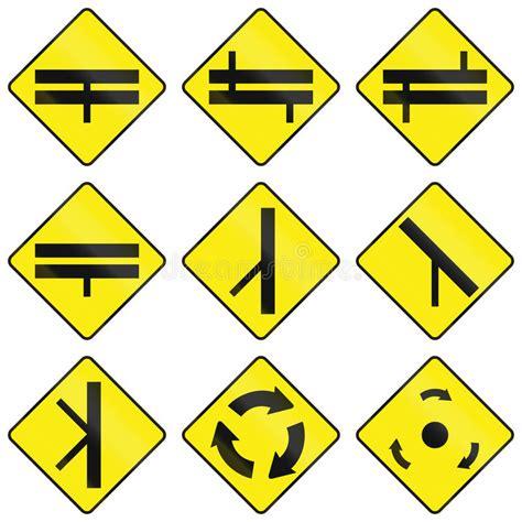 printable irish road signs warning road signs in ireland stock illustration image