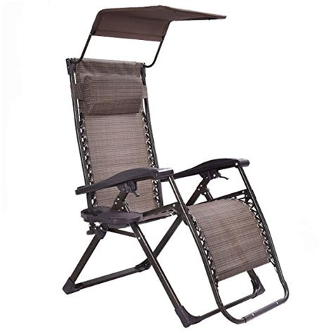 lounge chair with shade brown folding recliner patio lounge chair with canopy