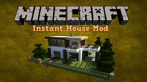Instant House Mod Minecraft Seed Showcase 1 7 5 Youtube