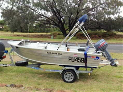 boat trailer parts central coast for sale quintrex 4 2m w b dory yamaha cv30 redco trailer