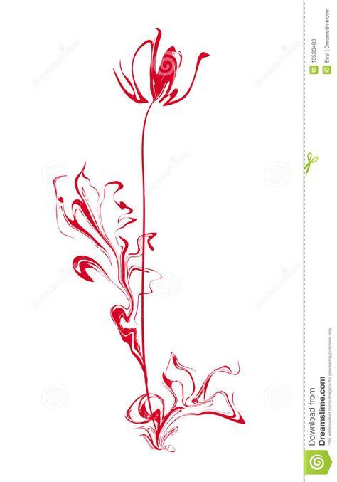 fiore stilizzato fiore stilizzato illustrazione vettoriale immagine di