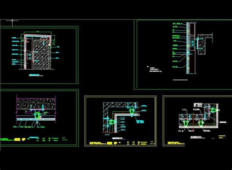 Intelligent Furniture by Aluminum Curtain Wall Node Detail Free Autocad Drawing