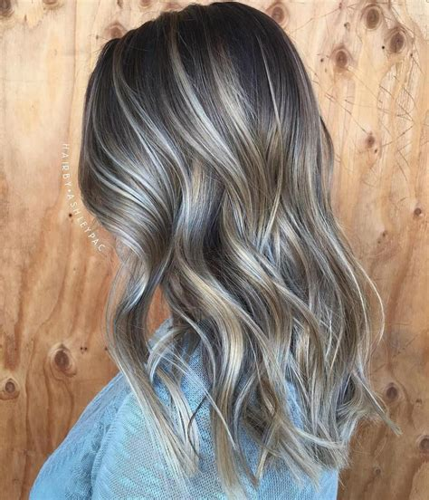 platinum highlights with ash brown hair 40 ash blonde hair looks you ll swoon over ash blonde