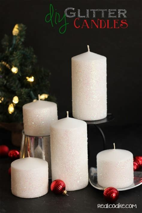 how to make a glitter candle diy home decor