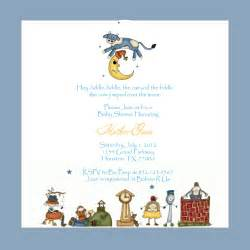 3 monkeys and more nursery rhyme baby shower invitations