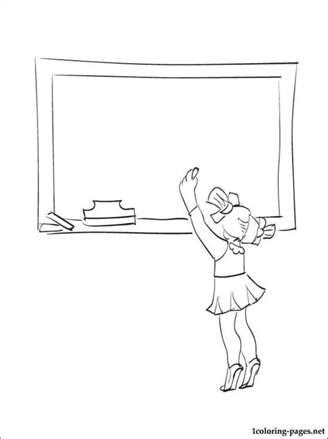 Drawing Colour Board Kecil 1 black board coloring page coloring pages