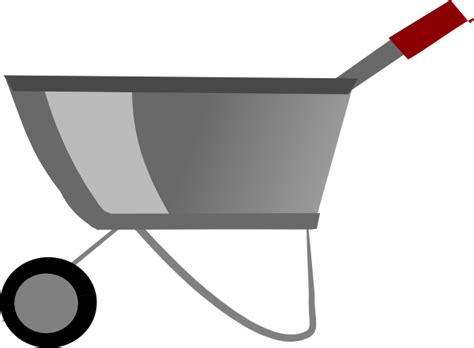 wheelbarrow clipart wheelbarrow clip at clker vector clip