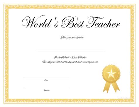 free certificate templates for teachers best certificate certificate templates