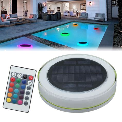 Rgb Led Under Water Light Solar Power Pond Swimming Pool Floating Solar Swimming Pool Lights