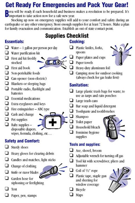 Apartment Emergency List Ca Official Website Build Your Own Emergency Kit