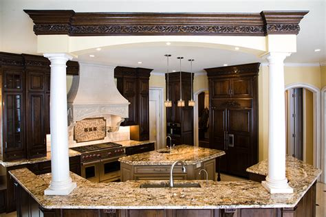 gourmet kitchen island luxury custom home galleries by steven custom homes