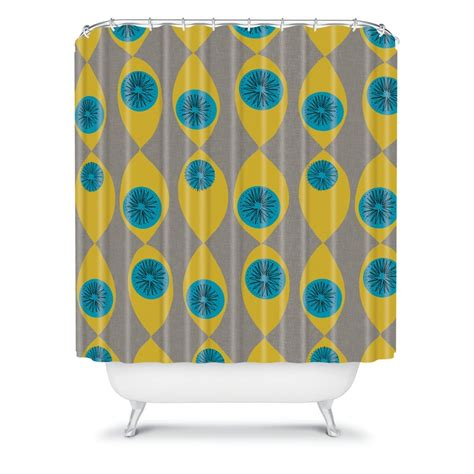 Blue And Yellow Shower Curtains Blue And Yellow Shower Curtains Yellow And Blue Damask Shower Curtain By Alondrascreations
