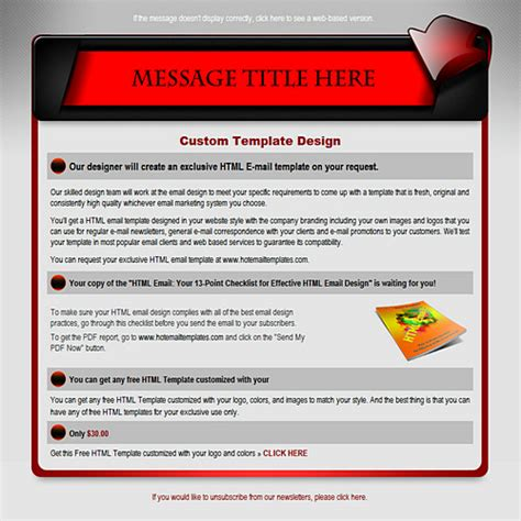 Email Banner Template banner free html e mail templates