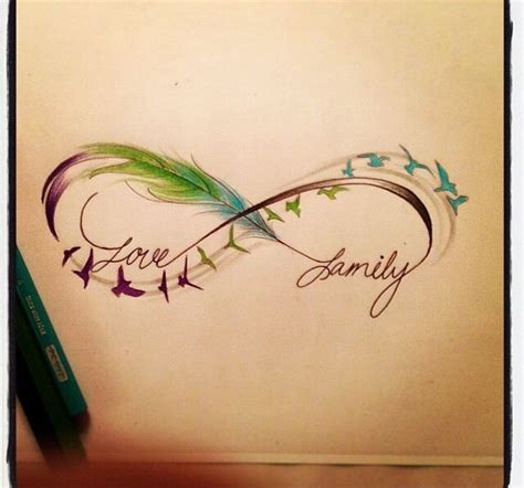 infinity tattoo with feather infinity sign feathers birds family an idea to