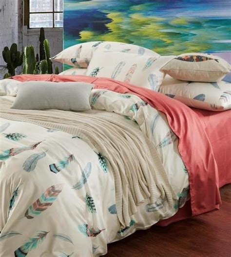 Feather Bed Set Colorful Feather Bedding Set King Size