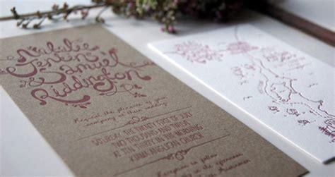 eco paper wedding invitations natalie sam s lettered chipboard wedding invitations