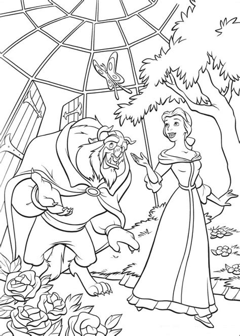 beauty and the beast castle coloring pages free printable beauty and the beast coloring pages for kids