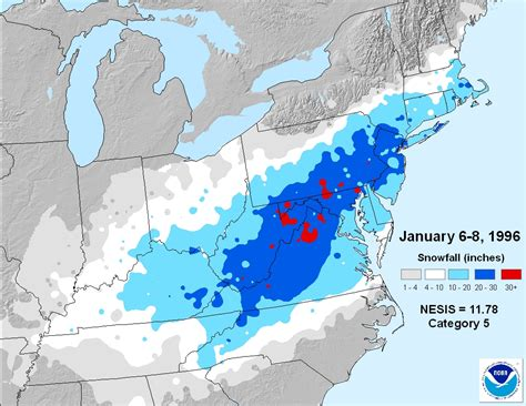 blizzard map 20th anniversary of the blizzard of 96 weatherworks