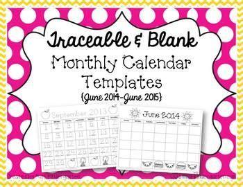 calendar templates freebie updated    math blank monthly calendar template