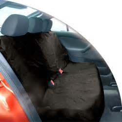 Car Seat Cover For Back Black Heavy Duty Waterproof Car Rear Back Seat Protector