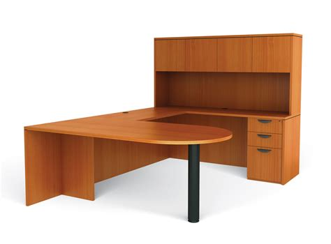 U Shaped Desks Offices To Go Superior Laminate U Shaped Desk W Peninsula And Hutch