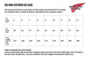 Shoe Size Chart Red Wing | red wing shoe size chart joan rain wedge felt boot