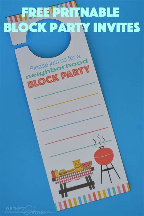 free printable birthday invitations nz neighborhood block party invitation free printable our