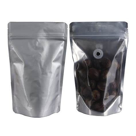 Standing Pouch Transparant With Zipper 250 Gr thomson pack tp spstz250 sv standing pouch side