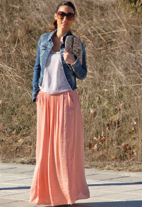 jean jacket and maxi skirt my style 2