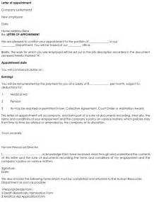 Appointment Letter Format For Reporter Employee Appointment Letter Format Word Online Business