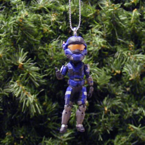 halo blue team member xbox avatar christmas ornament by