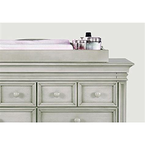 ash gray baby dresser baby cahce vienna changing topper in ash gray finish