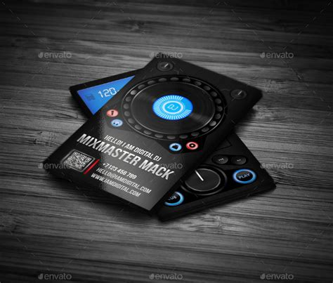 dj business card template 25 dj business card templates free premium