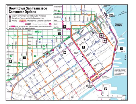 san francisco muni map muni san francisco map