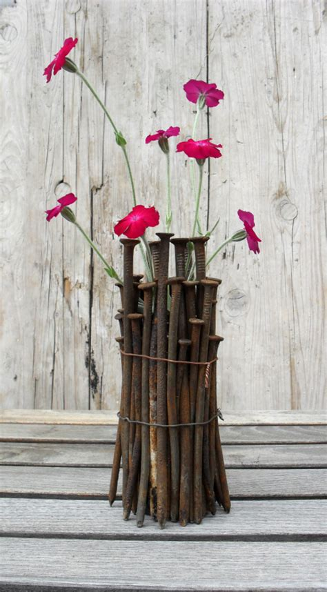 Crafts With Vases by Repurpose Nails Into An Industrial Vase Totally